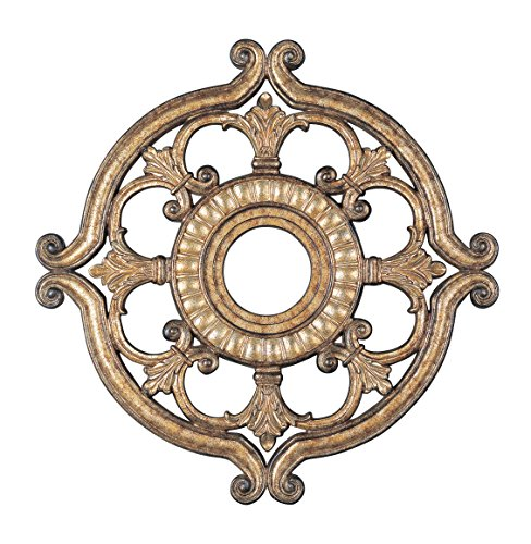 Livex Lighting 8216-65 Ceiling Medallion, Hand Painted Vintage Gold Leaf by Livex Lighting