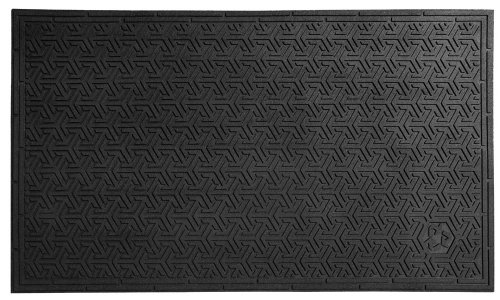 Nitrile Rubber Mats (Andersen 554 SuperScrape Eco Nitrile Rubber Entrance Indoor/Outdoor Floor Mat, 5' Length x 3' Width, 3/8