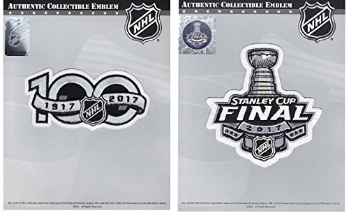 Official NHL 2017 Stanley Cup Finals and 100th Anniversary Patches Lot of (Stanley Cup Patch)