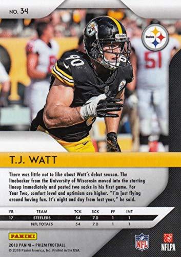 fff72b470f9 Amazon.com  2018 Panini Prizm  34 T.J. Watt Pittsburgh Steelers Football  Card  Collectibles   Fine Art