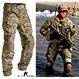 Men Military Airsoft Paintball BDU Pants Combat Tactical Gen3 Pants with Knee Pad Multicam MC