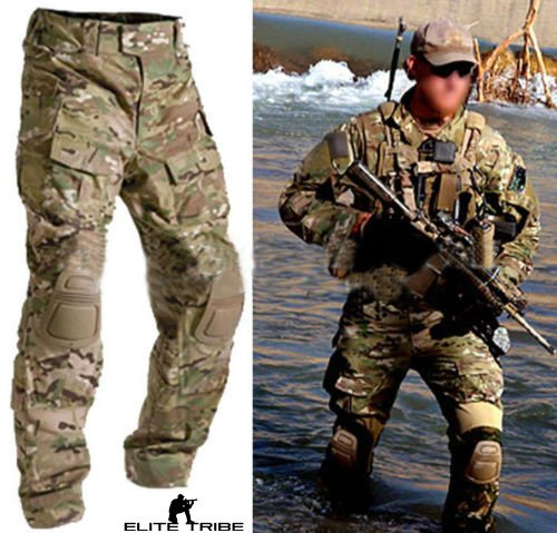 Men Military Army Tactical Series Airsoft Paintball Hunting Uniform Combat BDU Pants Multicam Size S,M,L,XL,XXL