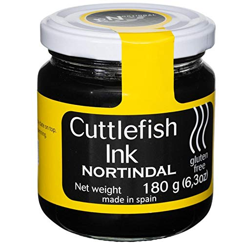 Nortindal Cuttlefish Squid Ink Jar, Tinta de Sepia - 180g (6.4 oz) | Gluten-Free