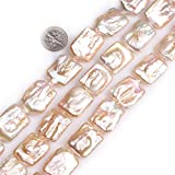 Frederick A. Farley Nuclear Edison Pearls Beads for Jewelry Making DIY Handmade 17x24mm Pink Rectangle