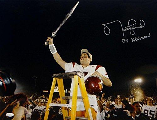 (Signed Matt Leinart Photograph - 16x20 Holding Sword W Heisman W Auth - JSA Certified - Autographed College)