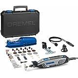 Dremel 4300 - Multiherramienta (3 complementos, 45 accesorios + soporte herramienta + luz + maletín)