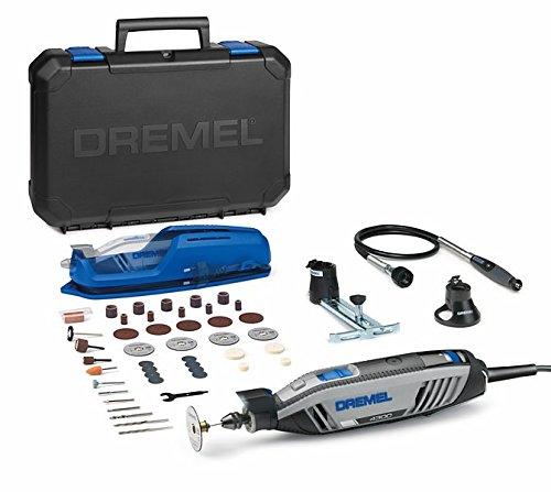 51PeBbCuS5L Dremel 4300   3/45, utensile multifunzione con valigetta e 45 pezzi