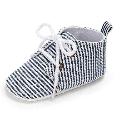 Cutelove togliersi bambini scarpe da bambino neonato primo Walkers scarpe di direzione del nastro tela striscia di svago comodo morbida antiscivolo facile da indossare alla moda