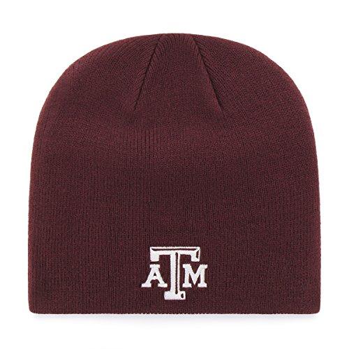 Texas A&m Acrylic (NCAA Texas A&M Aggies OTS Beanie Knit Cap, Dark Maroon, One Size)