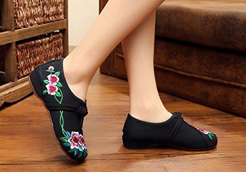Zapatillas Para Caminar Casual Bordadas En Chino De Avacostume Para Mujer