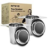 Kyпить Tea Infuser,Tea Strainer,2 PACK 304 Stainless Steel Water Filter with Double Handles for Hanging on Teapots, Mugs, Cups to steep Loose Leaf Tea and Coffee,Cold Brew Coffee Maker. FDA Approved. на Amazon.com