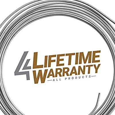 4LIFETIMELINES Galvanized Steel Brake Line, Fuel, Transmission Line Tubing Coil and Fitting Kit - 3/16 Inch, 25 Feet: Automotive