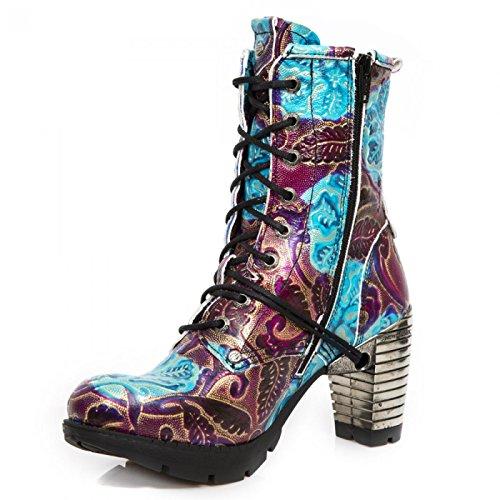 Nuovi Stivali Di Roccia M.tr001-s53 Gotico Hardrock Punk Damen Stiefelette Blau