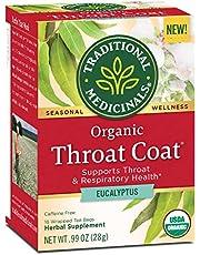 Traditional Medicinals Organic Throat Coat Eucalyptus Seasonal Tea, 16 Tea Bags (Pack of 6)
