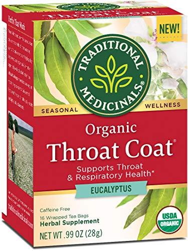 Traditional Medicinals Organic Throat Coat Eucalyptus Tea (Pack of 6)
