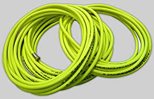 "10m 1/2"" (12.5mm) Hi-Vis industrial 20 Bar air line/water hose - 1/2"" BSP female fittings - food quality, fluorescent PVC"