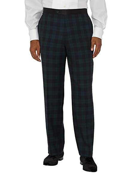 Men's Vintage Pants, Trousers, Jeans, Overalls  Wool Flat Front Tuxedo Pants Paul Fredrick Mens Super  100s $144.95 AT vintagedancer.com