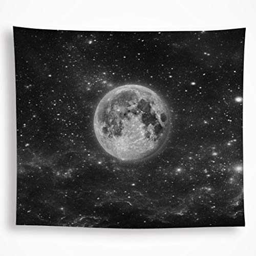 (VAKADO Moon Tapestry Wall Hanging Space Galaxy Starry Night Sky Stars Bohemian Trippy Universe Planet Blanket Home Decor for Dorm Room Bedroom 51