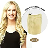 COCO Secret Extensions Bleach Blonde Hair Synthetic Hair Extensions Straight 16 Inches