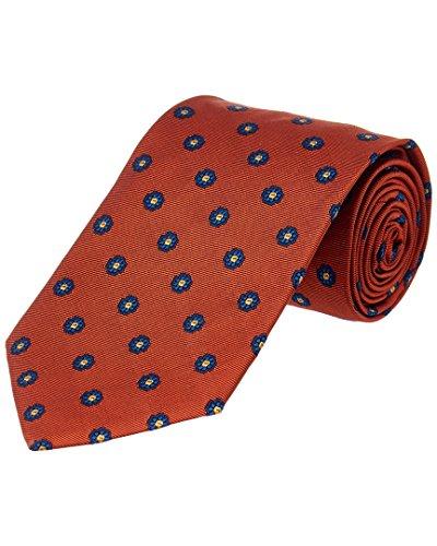 Brooks Brothers Mens Speckled Floral Orange Silk Tie Brooks Brothers Silk Necktie