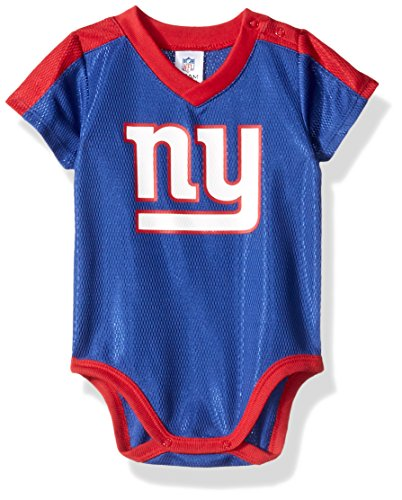 Gerber Childrenswear NFL New York Giants Boys Dazzle Bodysuit, 6-12 Months, Blue
