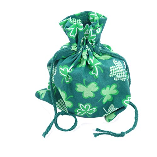 Dog Gift Treat Bag - Made in USA - Reusable Festive St Patrick's Day Cloth Pouch