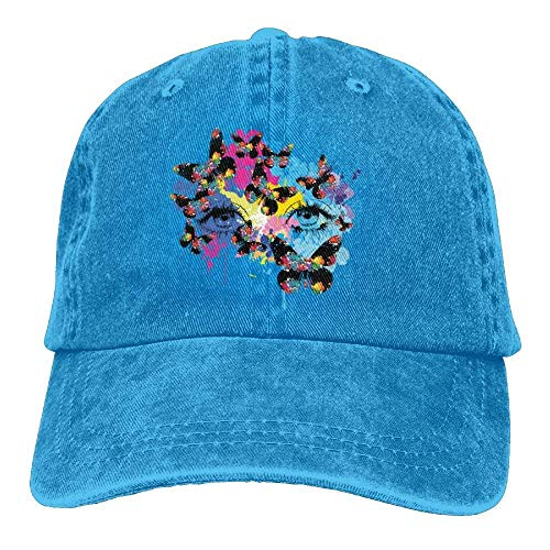 Denim Rainbow Flower Baseball béisbol Caps hanbaozhou Tactical Butterfly Eyes Gorras Female Woman'S Hat tEqwP0