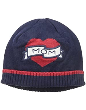 Baby Girls' Mom Heart Intarsia Beanie