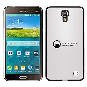 Caucho caso de Shell duro de la cubierta de accesorios de protección BY RAYDREAMMM - Samsung Galaxy Mega 2 - Investigación Negro Mesa
