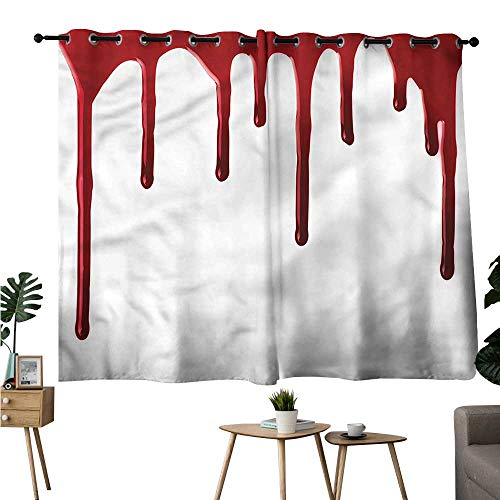 Alexandear Family Darkening Curtains Grommets Curtain for Kitchen Window Horror,Halloween Zombie Crime Curtains/Panels/Drapes W84 x L72 ()