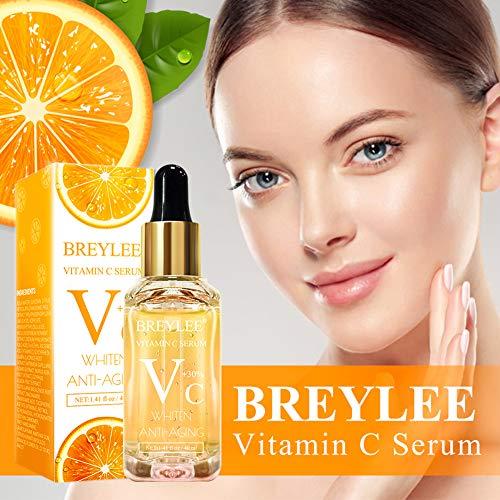 51PeF8OZiZL - Vitamin C Serum, BREYLEE Anti-Aging Facial Serum with Hyaluronic Acid, Retinol, and Vitamin E Moisturizing Face Serum for Skin Whiten Skin Brighten, Fades Sun Spots (40ml, 1.41oz)