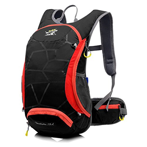 15L waterproof riding helmet backpack Black - 3