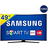 """Smart TV LED 49 Samsung Curva 4K,UHD Dimming,HDR Premium, Wifi e Conversor Digital,Entradas: 3 HDMI e 2 USB, Quad Core, 20W, 120hz, Bivolt - 49MU6300"""