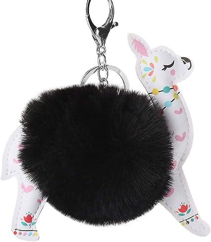 Cute Puppy Hair Ball Keychain Dog Year Puppy Plush Bag Car Pendant Small Gifts