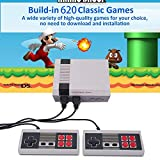 Mini Retro Classic Game Console Classic Game Consoles Built-in 620 Games Video Games Handheld Game Player,Childhood Classic Game,Dual Control,AV OUT,8-Bit,Best Gift Goth For Children & Adult
