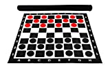 MegaChess 3 Inch Giant Plastic Checkers Set with 28'' x 28'' Vinyl Board