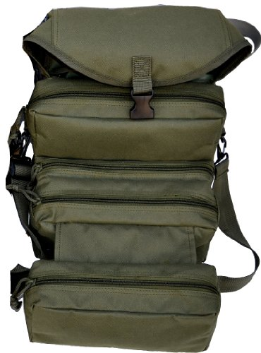 Explorer 4 Fold Tool Medical First Aid Duffle Bag, Olive Green
