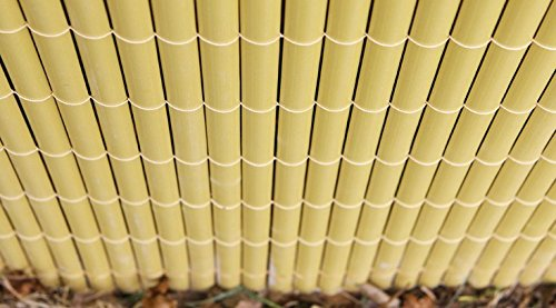 13ft 1in x 3ft 3in Papillon Artificial Split Bamboo Plastic Garden Fence Screening Roll Privacy Border Wind//Sun Protection 4.0 x 1.0m