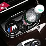 COGEEK 2PCS M Line Car Interior Accessories Anti Slip Cup Mat for BMW 1 3 5 7 Series F30 F35 320li 316i X1 X3 X4 X5 X6 (2.9