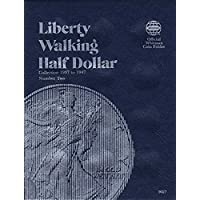 0-307-09027-2 Liberty Walking Half Dollars 1937-1947 Volumen 2 Whitman No 9027 Coin; Álbum, Carpeta, Tablero, Libro, Tarjeta, Colección, Carpeta, Titular, Página, Cartera, Publicación, Conjunto, Volumen