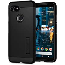Spigen Tough Armor Google Pixel 2 XL Case with Kickstand and Extreme Heavy Duty Protection and Air Cushion Technology for Google Pixel 2 XL (2017) - Black