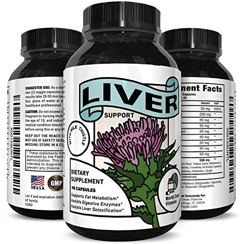 Natural Liver Detox Supplement for Men and Women Pure Liver Support Pills with Milk Thistle Extract Zinc Beet Root Artichoke Extract Yarrow Jujube Seed Best Liver Cleanse 90 Capsules