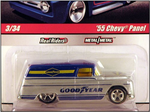 55 Chevy Body (2010 Hot Wheels 1:64 Delivery Slick Rides '55 Chevy Panel w/Real Riders & Metal Body)