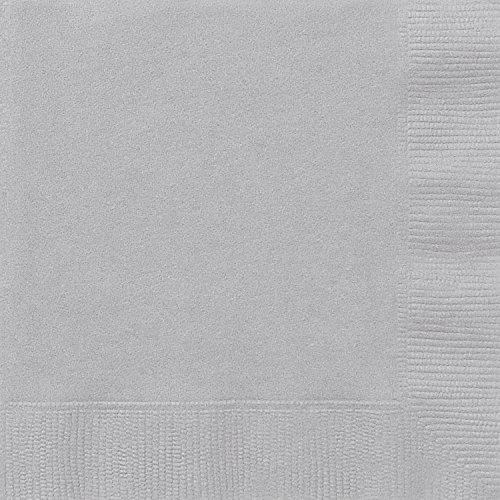 Unique 3342 Silver Paper Napkins