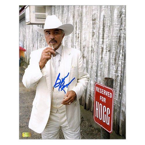 (Burt Reynolds Autographed 8x10 Dukes of Hazzard Boss Hog)