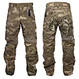 ZAPT Tactical Combat Pant Hiking Hunting Airsoft SWAT Military Camo Army Trousers Wearproof Ripstop Pants with Knee Pads
