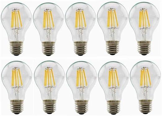 Bombillas led 10-Pack 24V E27 Bombillas LED transparentes 6W A60 ...