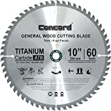 Concord Blades WCB1000T060HP 10-Inch 60 Teeth TCT General Purpose Hard & Soft Wood Saw Blade