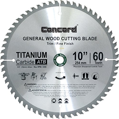 Concord Blades WCB1000T060HP 10-Inch 60  - General Purpose Table Saw Blade Shopping Results