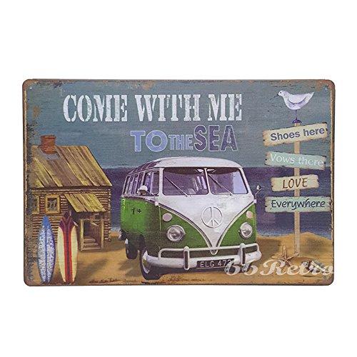 66Retro Come with me to the Sea, Volkswagen Van, Vintage